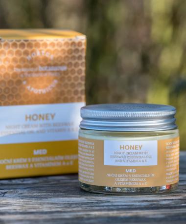 Crème visage nuit au miel
