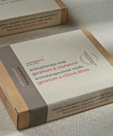 Savon aromathérapie Géranium & Bois...